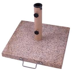 Stojak na parasole 20 kg granitowy różowy kwadrat 45 x 45 cm