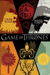 Game Of Thrones Sigils - plakat