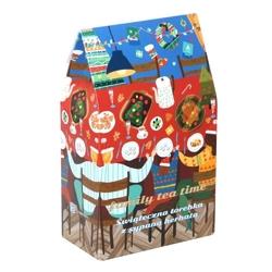 Świąteczna torebka z herbatami family tea time - doskonały prezent upominek na mikołaja lub gwiazdkę. gramatura 9x5g + 1x8g
