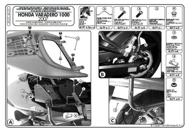 Kappa kl177 mocowanie boczne monokey varadero 1000 07-12