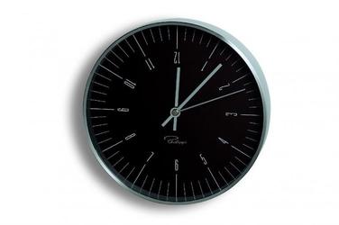 Zegar ścienny czarny 20 cm