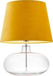 Lampa stołowa sawa velvet transparentna podstawa żółty abażur