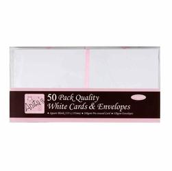 Kartka kwadrat - 50 sztuk białe - BIA