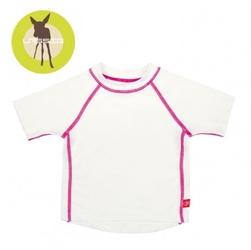 Lassig, koszulka t-shirt do pływania white, uv 50+