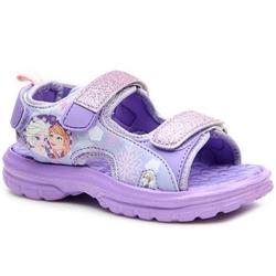 Sandały dziewczęce na rzepy fioletowe kraina lodu - fioletowy