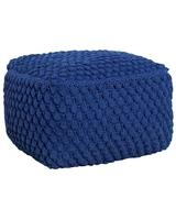 Bawełniany puf cosy, kolor ciemny niebieski