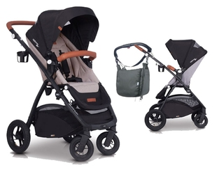 Easygo optimo air sand wózek do 22 kg z obracanym siedziskiem na pompowanych kołach + torba dla mamy gratis