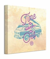 VW Time to Get Out Purple - obraz na płótnie
