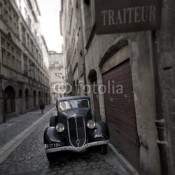 Plakat na papierze fotorealistycznym retro samochód