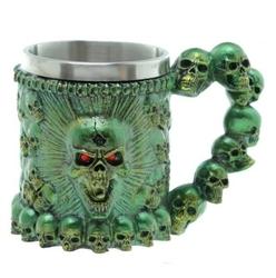 Kufel czaszki zielony