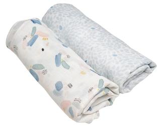 Kocyk otulacz dla dziecka z muślinu patterns
