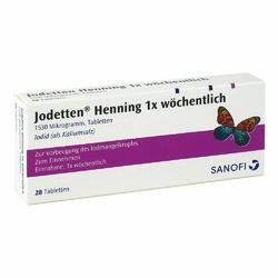 Jodetten Henning 1x woechentlich Tabl.