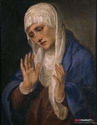 matka bolesna - tycjan ; obraz - reprodukcja