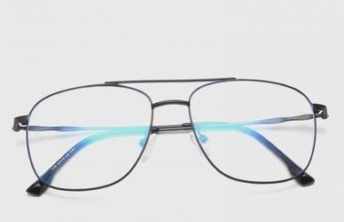 Czarne okulary aviator zerówki filtr blue light do komputera 2547-3
