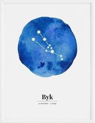 Plakat zodiak byk 21 x 30 cm