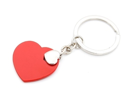 Brelok breloczek do kluczy serce serduszko z grawerem