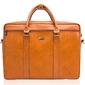 Skórzana torba męska na laptopa solier jasnobrązowa - jasny brąz