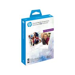 Przyklejany papier fotograficzny HP Social Media Snapshots – 25 arkuszy  10 × 13 cm