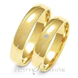 Obrączki ślubne złoty skorpion – wzór au-a139