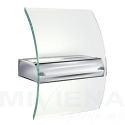 Kinkiet 1 chrom szkło 23 cm