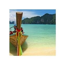 Plaża i łódka - reprodukcja