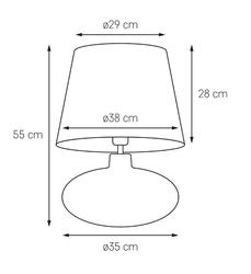 Kaspa :: lampa stołowa sawa czarno-biały abażur podstawa grafitowa