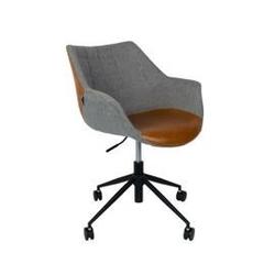 Zuiver :: fotel biurowy z podłokietnikami doulton vintage brązowy