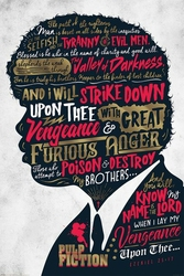 Pulp Fiction Ezekiel 25:17 - plakat filmowy
