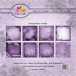 Papier ozdobny 15x1532szt-vintage flowers purple - vfp