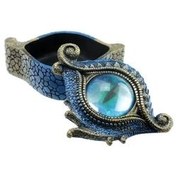Smocze oko - szkatułka niebieska