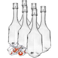 Butelki na nalewki 500 ml 6 szt. z kapslem hermetycznym