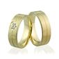 Obrączki ślubne z serduszkiem i brylantami - au-918