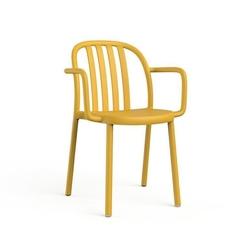 Krzesło sue lama z podłokietnikami żółte - żółty
