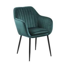 Krzesło emilia velvet greenblack - zielony ciemny