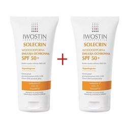 Iwostin solecrin spf50+ emulsja ochronna 100ml x 2 opakowania duopack