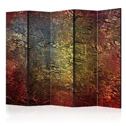 Parawan 5-częściowy - czerwone złoto ii room dividers