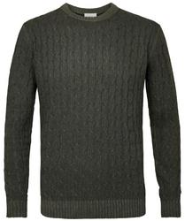 Sweter z fakturą zielony s