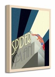 Marvel Deco Spider-man Building - Obraz na płótnie