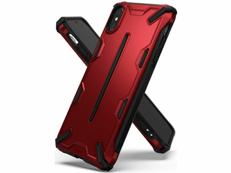 Etui Ringke Dual X Apple iPhone XS Max Iron Red - Czerwony