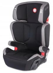 Lionelo HUGO LEATHER Szary Fotelik 15-36 kg ISOFIX + LAMPKA LED