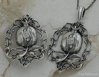 Iglesia - srebrny komplet z kryształkami swarovski