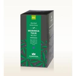 Bio herbata moringa tulsi nr 247 - 20 saszetek x 1,8g cosmoveda