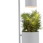 Lampa stołowa botanica szara