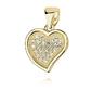 Srebrna zawieszka pr.925 serce z cyrkoniami - żółte złoto