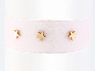 Choker naszyjnik gwiazdki różowy - różowy