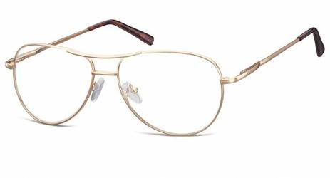 Okulary oprawki dziecięce zerówki pilotki mk1-46d złote