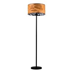 Lampa podłogowa z abażurem miodowa papeda