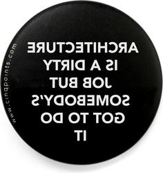 Przypinka czarna badge dirty job