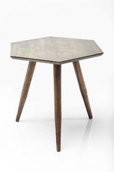 KARE Design :: Stolik Tangram Gold 50x50cm - drewniany || mosiężny
