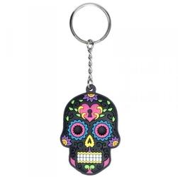 Meksykańska czaszka czarna - breloczek do kluczy
